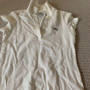 White Lacoste size 34 collard shirt